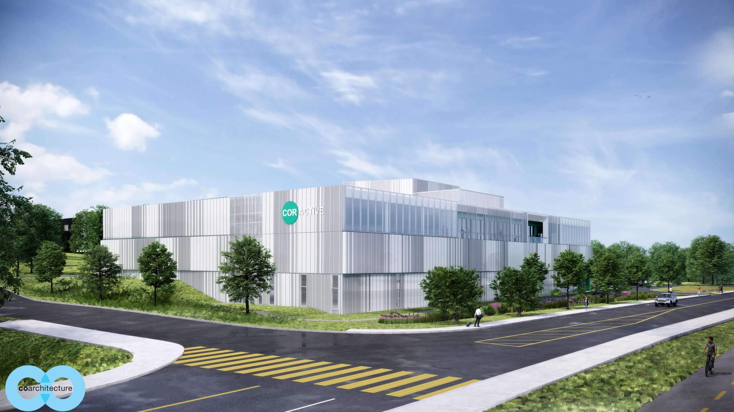 Coractive-Facade nouvelle usine